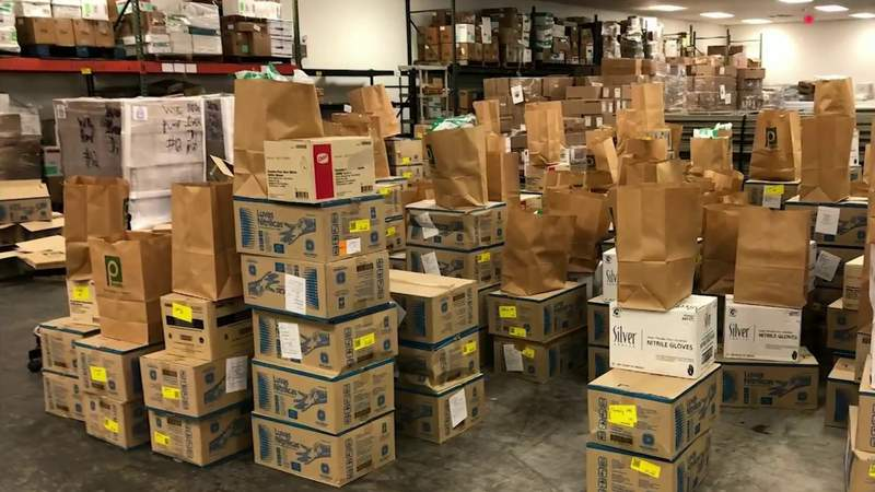 Pallets of PPE being delivered to Brevard County schools this week