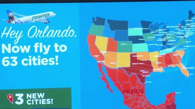 Frontier Airlines announces 2 new nonstop destinations out of Orlando International Airport