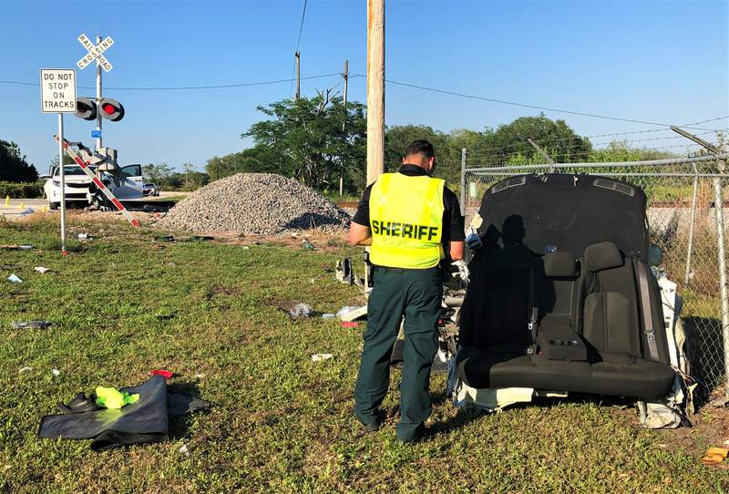 A woman and her son were killed in a crash with a train in Polk County.