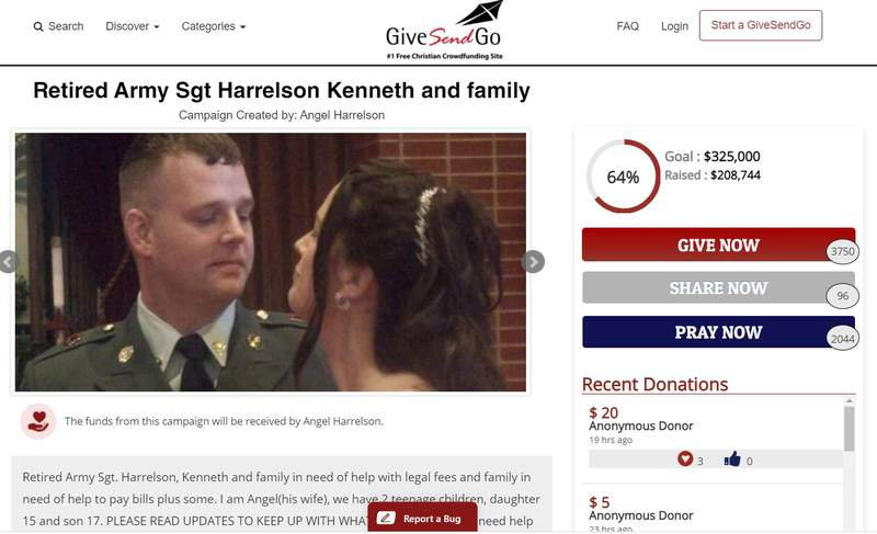 Kenneth Harrelson, a Brevard County man arrested for involvement in the Capitol Hill riot, has raised more than $200,000 for his legal defense.  Courtesy: GiveSendGo