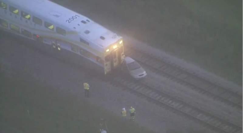 A SunRail train is involved in a crash in Orange County.