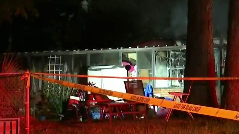 One person hurt in mobile home fire