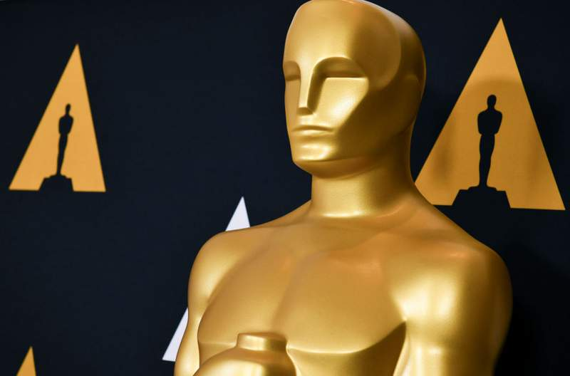 Oscar statue at the Samuel Goldwyn Theater on February 05, 2020 in Beverly Hills, California.