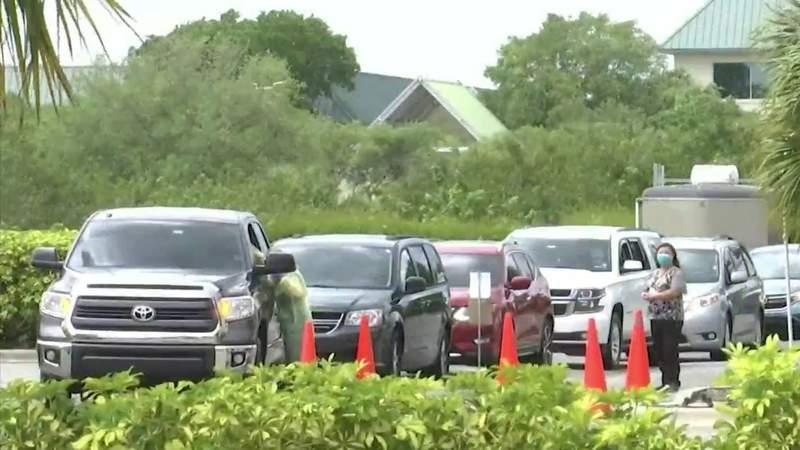 First north Brevard County coronavirus drive-thru testing site opens in Titusville