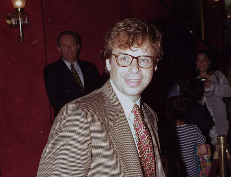 FILE - In this May 1994 file photo, actor Rick Moranis is shown at an unknown location.  A law enforcement official tells the Associated Press that Moranis was sucker punched by an unknown assailant while walking Thursday, Oct. 1, 2020, on a sidewalk near New Yorks Central Park.   Moranis took himself to the hospital and later went to a police station to report the incident, according to the official, who was not authorized to speak publicly about the incident and did so on condition of anonymity. (AP Photo/File)