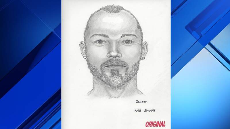 Sketch of man who was found dead April 17 on I-95 in Pompano Beach.