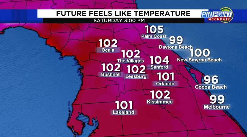 Future feels like temperatures