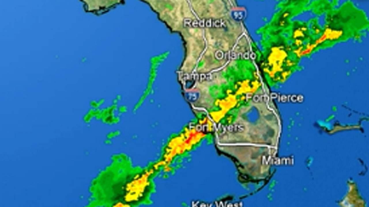 Storms Move Through Central Florida