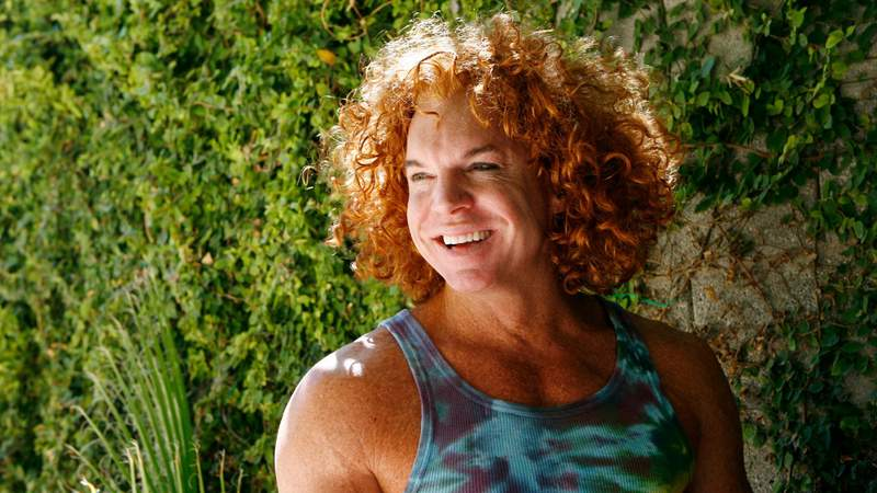 """Scott Thompson also known as """"Carrot Top"""" is pictured at his home in Las Vegas."""