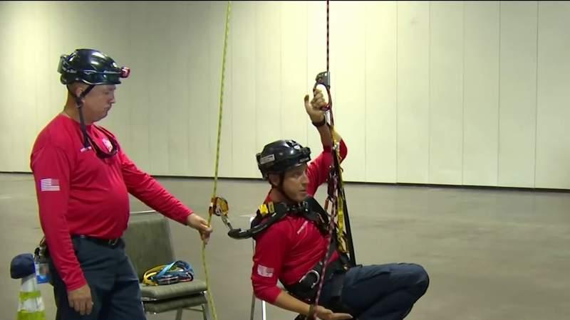 Orange County Fire Rescue prepare for high-angle rescues