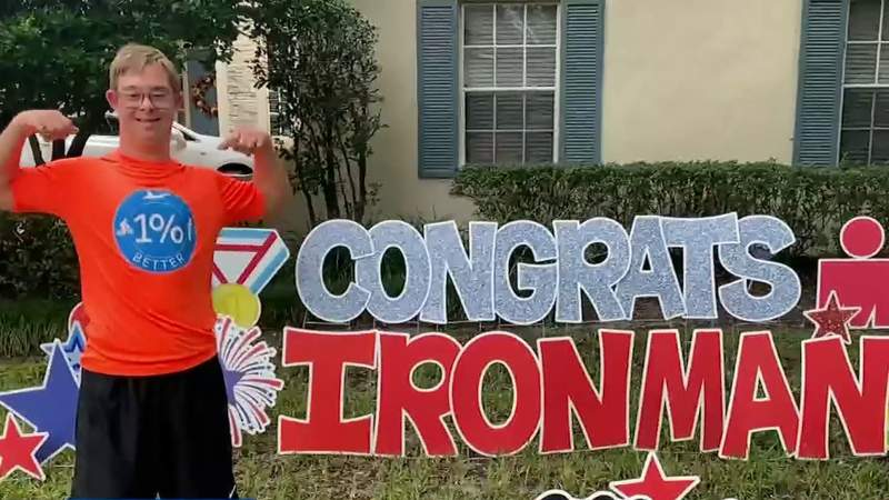Orange County man with Down syndrome completes Ironman race