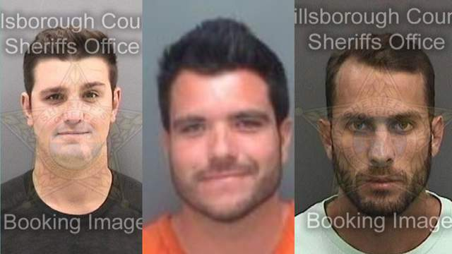 Spencer Heintz, Michael Wenzel and Robert Lee Benac were arrested in connection with a viral video that showed a shark being dragged from the back of a speeding boat.