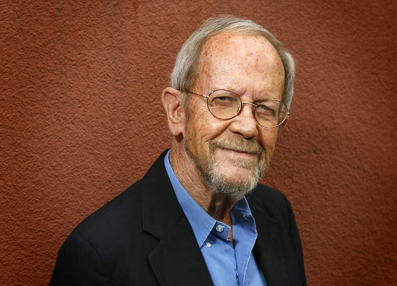 """Author Elmore Leonard poses during a portrait session prior to a reading and signing of his novel """"Up In Honey's Room"""" on May 24, 2007."""