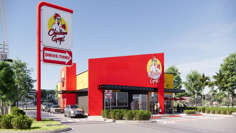 Rendering of the new Chicken Guy! location opening in Winter Park