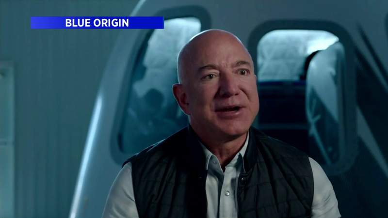 Jeff Bezos going to space on first crewed flight of Blue Origin rocket