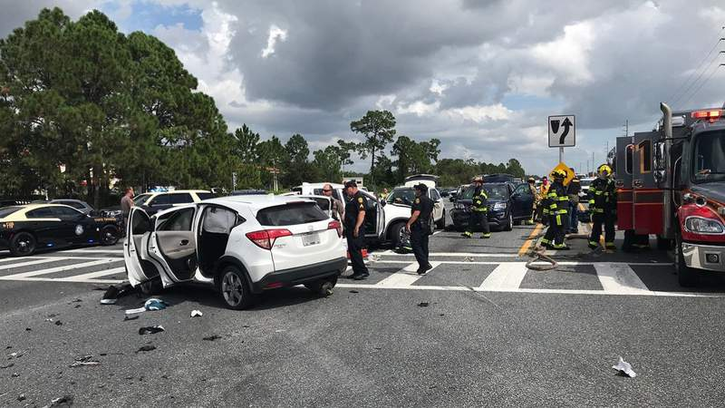 Police say a teen driving a stolen vehicle caused a crash in Polk County.