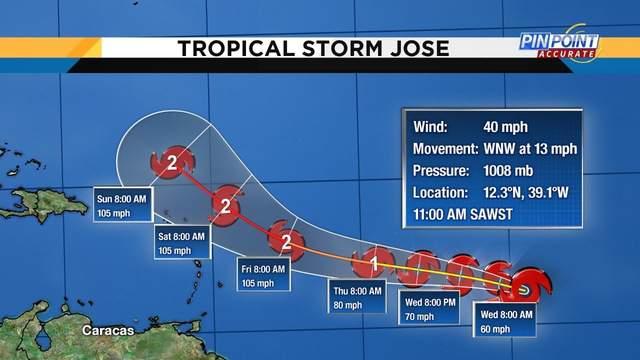 Tropical Storm Jose.