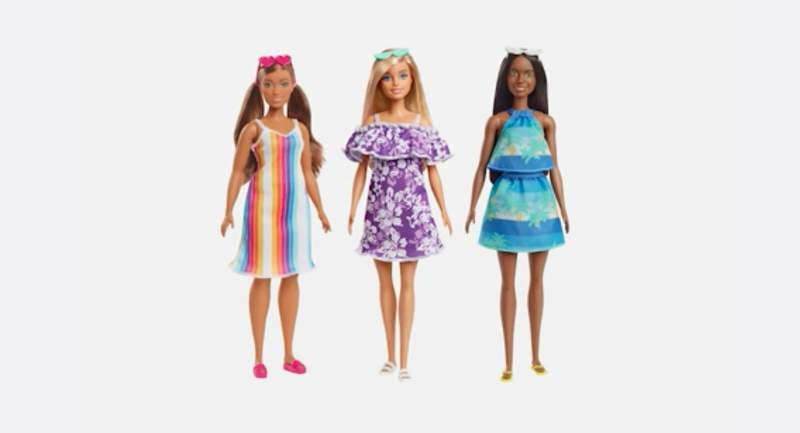 New Barbies made from recycled plastic (Mattel)