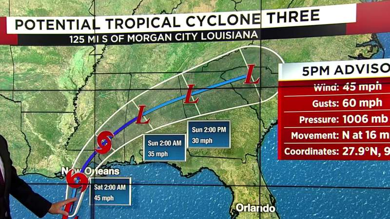 Tracking potential tropical cyclone 3