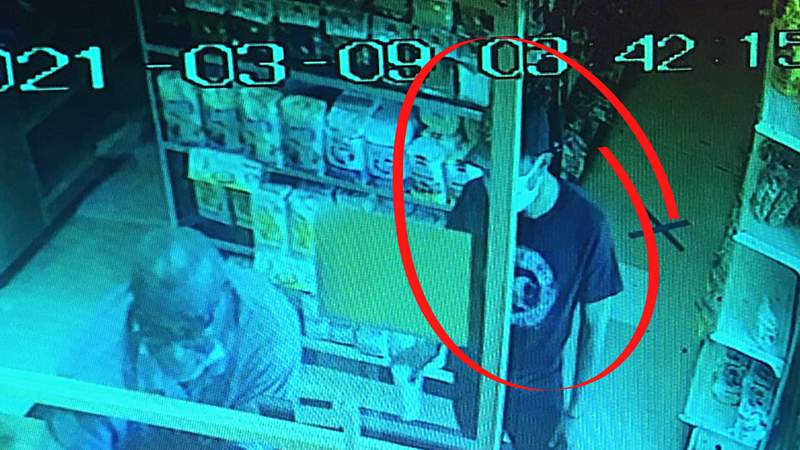 Deputies are looking for the man suspected of stealing from a donation jar at a convenience store in Volusia County. (Image: Volusia County Sheriff's Office)