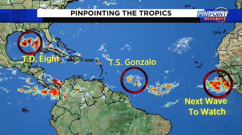 Tropics are heating up after a quiet stretch.