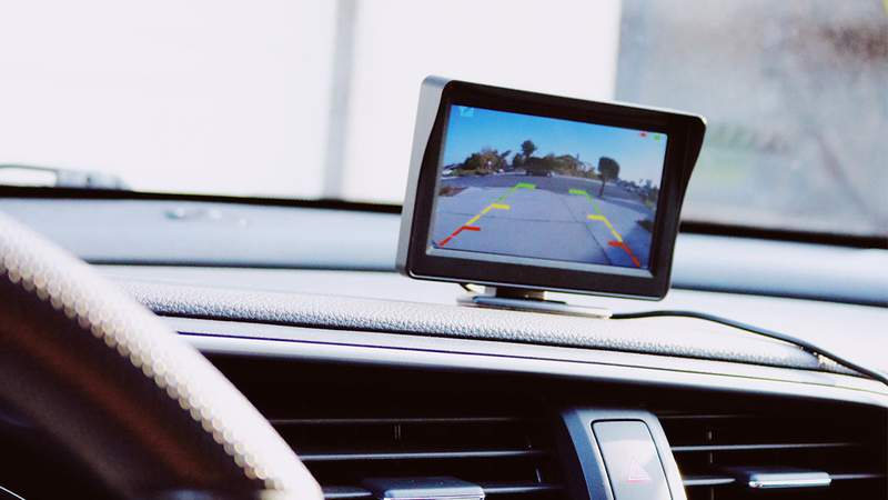 Never worry about bumping into another car or pole with this add-on car backup camera.