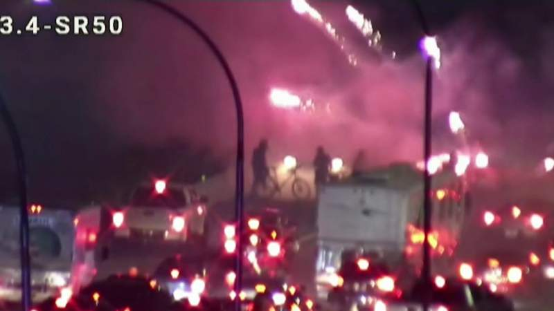 Tear gas used on I-4 protesters