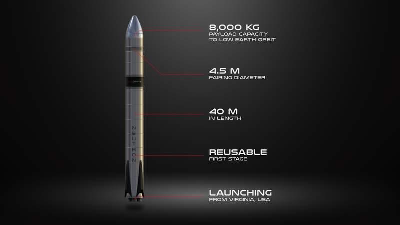 Rocket Lab's medium-lift rocket, Neutron. (Image: Rocket Lab)