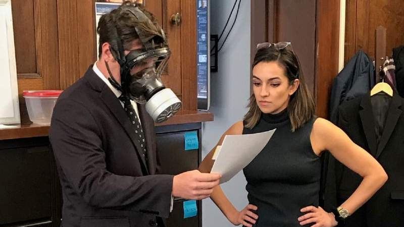 Rep. Matt Gaetz wore a gas mask during a coronavirus vote on the House floor.