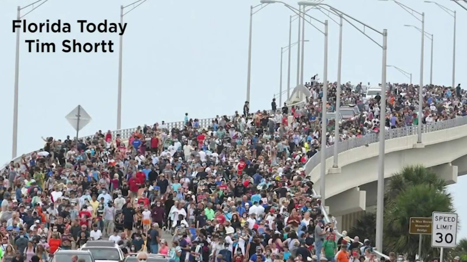 Massive crowds expected again at popular rocket launch viewing area in Titusville