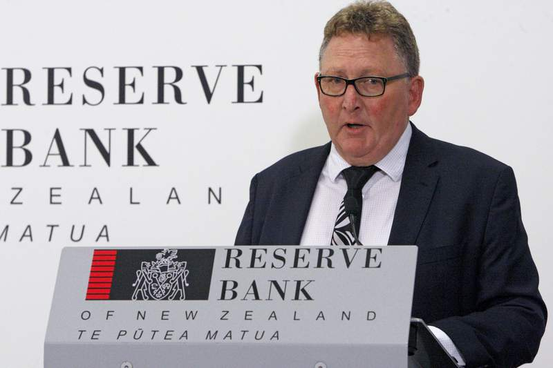 FILE - In this May 8, 2019, file photo, New Zealand's Reserve Bank Governor Adrian Orr speaks to the media in Wellington, New Zealand. New Zealand's central bank said, Sunday Jan. 10, 2021, that one of its data systems has been breached by an unidentified hacker who has potentially accessed commercially and personally sensitive information. (AP Photo/Nick Perry, File)