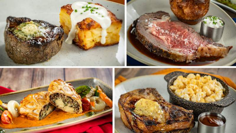 Some of the food offered by Steakhouse 71, set to open on Oct. 1