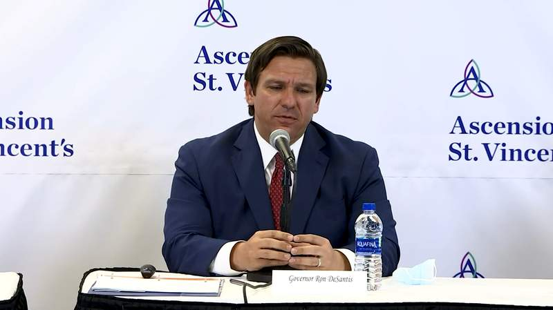 During a stop Friday in Jacksonville, Gov. DeSantis announced that gyms can open on Monday and businesses such as retail stores and restaurants can increase their capacity.