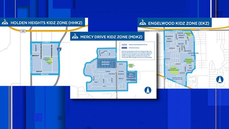 Three new neighborhoods get their own Kidz Zone, according to the city of Orlando