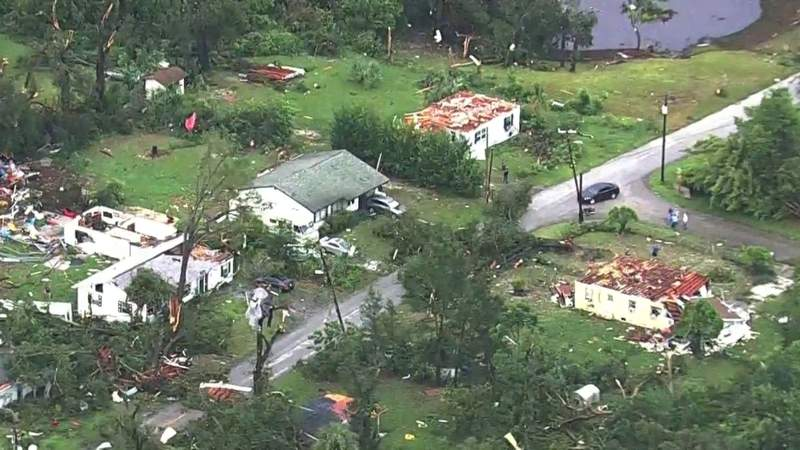 Severe weather causes serious damage in DeLand