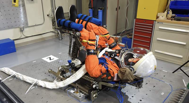 NASA is seeking to learn how best to protect astronauts for Artemis II, the first mission with crew. The space agency is doing it with an elaborate body double. (Photo Credit: NASA)