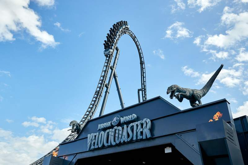 Jurassic World Velocicoaster opening June 10, 2021