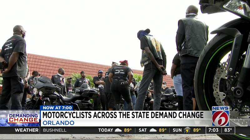 Motorcyclists across the state demand change