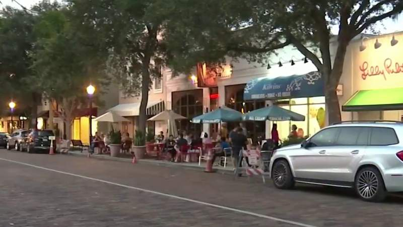 People out in Winter Park despite recent surge in cases