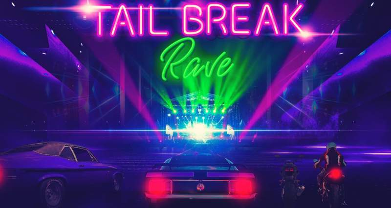 Tail Break Rave in downtown Orlando