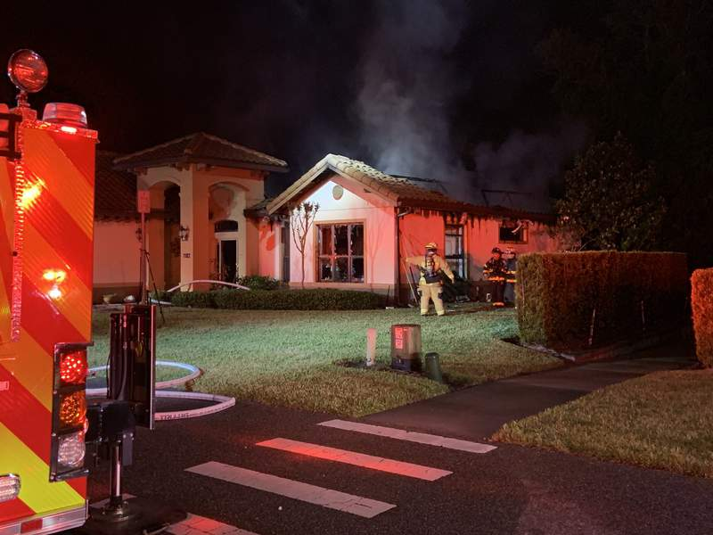 House fire in Lake Mary. (Image: Seminole County Fire Department)