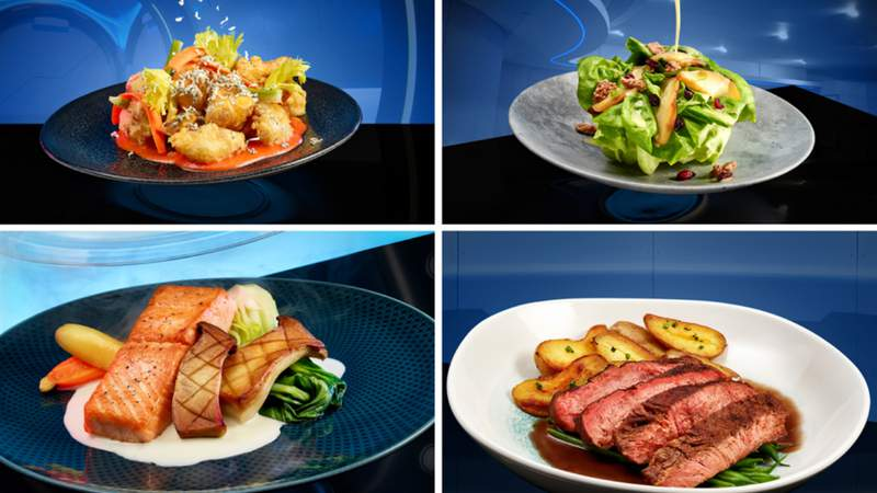 Some of the offerings coming to Disney's news Space 220 restaurant