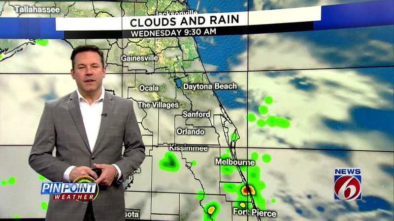 Clouds, rain dominate Central Florida forecast