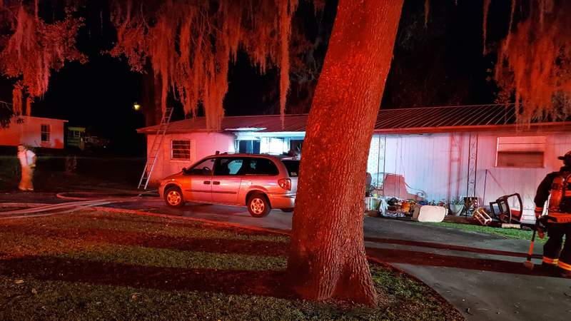 Two sent to hospital after Ocala house fire.