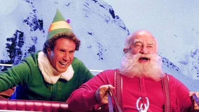 Edward Asner (voice) in The Story of Santa Claus and in person in Elf.