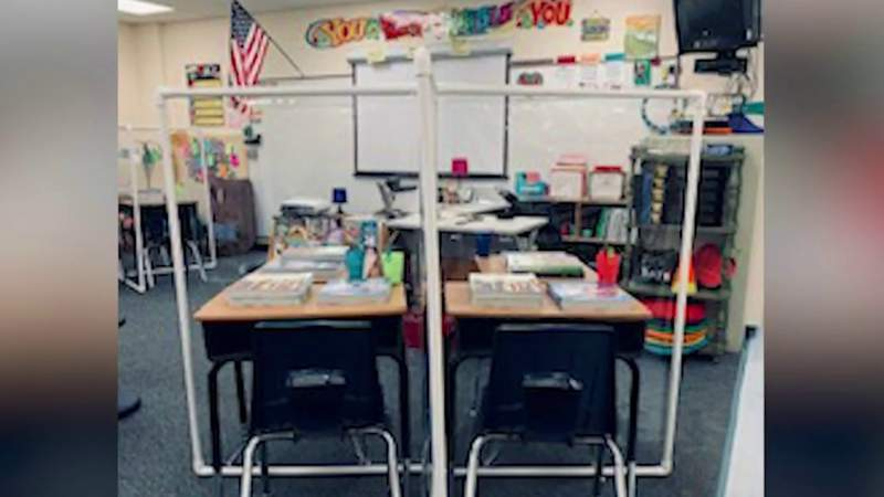 Lake County business builds partitions for elementary school classrooms