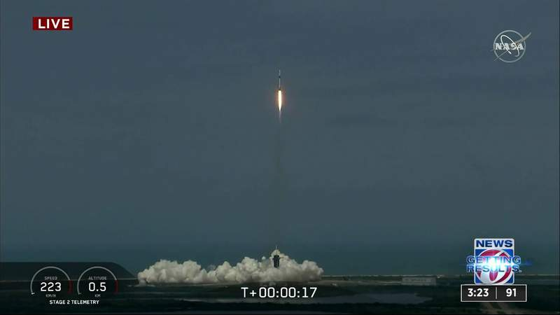 SpaceX rocket launches 2 NASA astronauts into space
