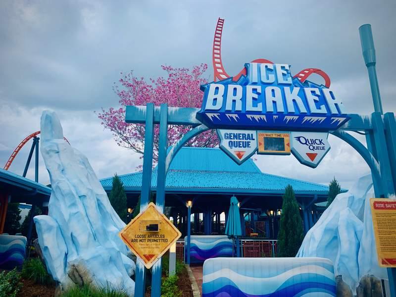 SeaWorld Orlando's Ice Breaker Coaster