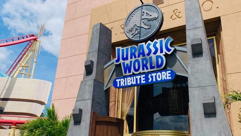 Jurassic World tribute store at Universal Orlando