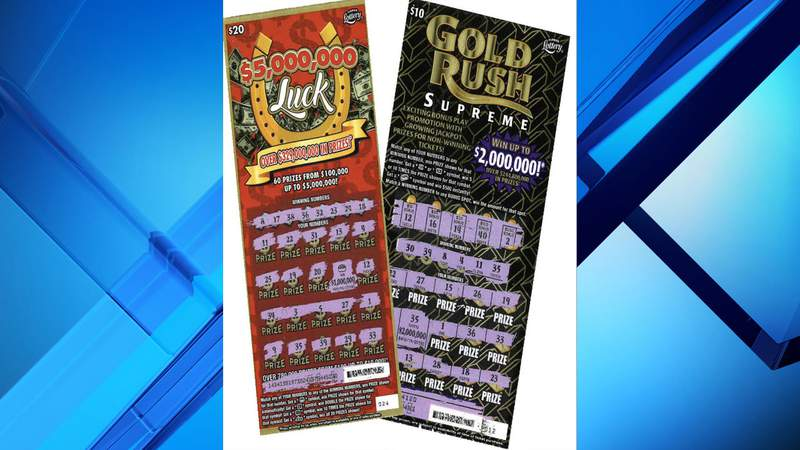 A 57-year-old woman won $2 million from a scratch-off lottery ticket in Melbourne and a 53-year-old man won $1 million from a scratch-off ticket in Orlando.